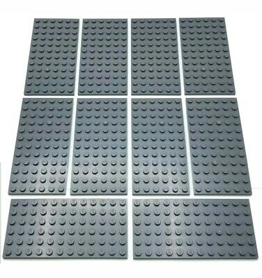 VINTAGE 2x LEGO Old Dark Gray  Plate 6 x 12 Baseplates  #3028