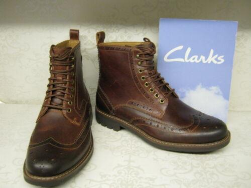 à Clarks formelles Bottines en Montacute foncées Lord cuir brunes lacets x7HIq7
