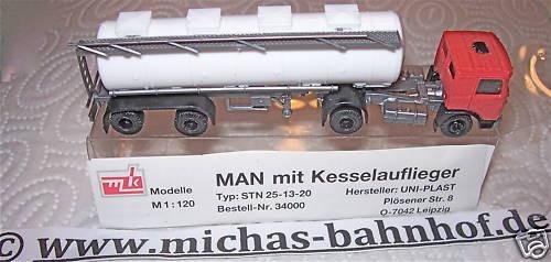 Man Autocarro con Kesselauflieger Tt 1 120 UO4 Å