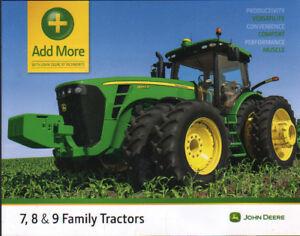 Utile John Deere 7, 8 & 9 Famille Tracteur Accessoires Brochure Dépliant-afficher Le Titre D'origine