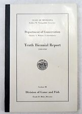 1949 - 50 DIVISION OF GAME AND FISH 10TH ANNUAL REPORT BOOKLET
