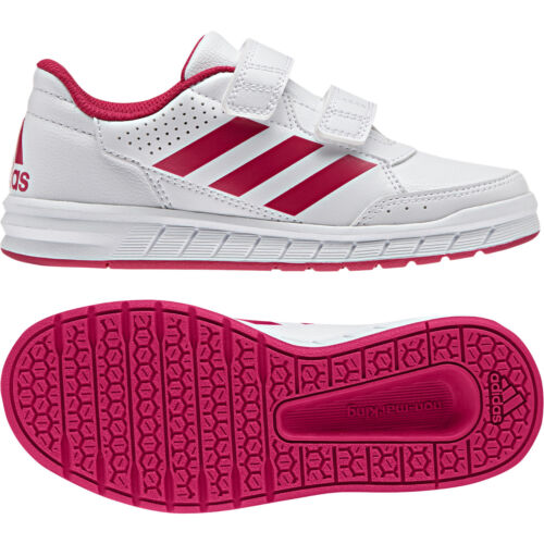 Adidas Kids Girls Shoes Running AltaSport Fashion Trainers School Gym BA9450 New