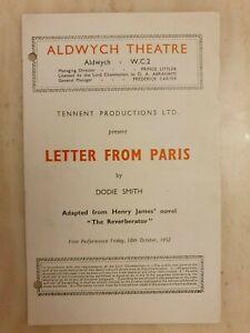 LETTER FROM PARIS - PETER BARKWORTH NICHOLAS PHIPPS SCOTT McKAY JESSIE EVANS