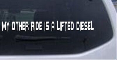 MY OTHER RIDE IS A POWERSTROKE Car or Truck Window Laptop Decal Sticker