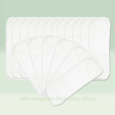 20 x BAMBOO Reusable INSERTS Booster Liner modern cloth nappy diaper