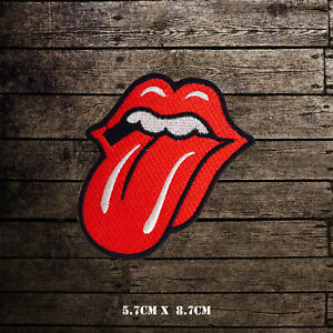 Red Tongue Lip Music Band Embroidered Iron On Sew On Patch Badge For Clothes etc