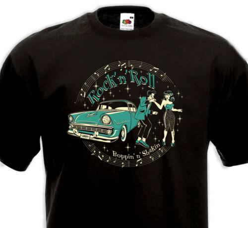 T-Shirt Rock/'N/'Roll Teddy Boy Pin-Up Chevrolet Boppin/' N/'S Hakin /'