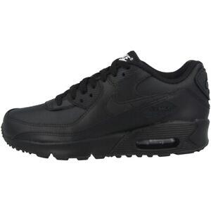 Nike Air Max 90 Leather GS Schuhe Freizeit Sneaker Turnschuhe black CD6864-001