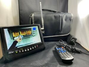 7 inch PORTABLE DIGITAL LCD TV TELEVISION by DIGITAL PRISM Color TV Remote/ Case