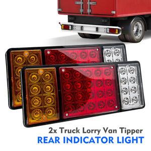 2 x 12v led feux arriere arr t indicateur lampe pour remorque camion etanche ebay