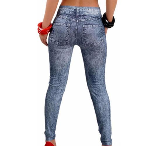 Pantalon Jeans Femme Stretch Plus Jeans Denim Faux Jean C*