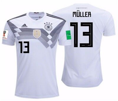 ADIDAS THOMAS MULLER GERMANY HOME JERSEY FIFA WORLD CUP 2018 PATCHES | eBay