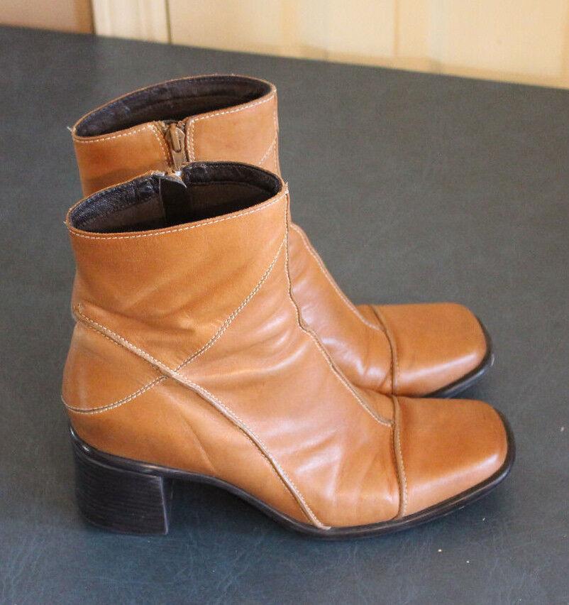 Clarks Camel Bottines en cuir marron clair femme Taille 8.5 M