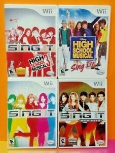 Nintendo-Wii-Wii-U-Game-Lot-Disney-Sing-It-Pop-Hits-High-School-Musical-1-3