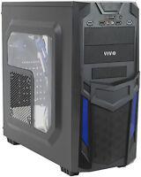 Vivo Atx Mid Tower Computer Gaming Pc Case Black Blue/ 3 Fan Mount, Dual Usb 3.0 on sale