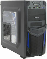 Vivo Atx Mid Tower Computer Gaming Pc Case Black Blue/ 3 Fan Mount, Dual Usb 3.0 on sale