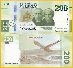 Mexico-200-Pesos-p-new-2019-Commemorative-Sign-Guzman-amp-Alegre-UNC-Banknote