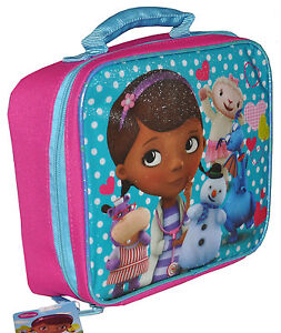 9d0a8de9e693 Doc McStuffins School INSULATED LUNCH BAG Girls Kids by Disney Pink ...