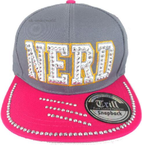 Adults Nerd Diamond Snapback Hat Retro Hip Hop Baseball Flat Peak Childrens Cap
