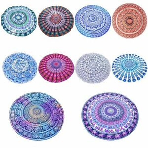 Beach Towel Summer Large Printed Big Round Circle Picnic Blanket Shawl Chiffon