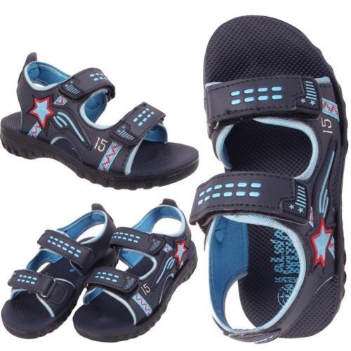 Boys Childrens Infants Kids Holiday Velcro Aviator Sandals Slippers Sizes 6-11