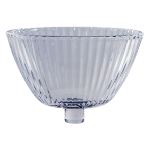 teelichtaufsatz glasaufsatz f r kerzenleuchter windlicht mit rillen ebay. Black Bedroom Furniture Sets. Home Design Ideas