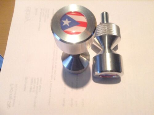 """Two hole pins Standard size 1//2/"""" to 1-5//8/"""" Puerto Rico Flag"""