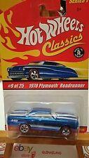 Hot Wheels Classics 1970 Plymouth Roadrunner bleu (9002)