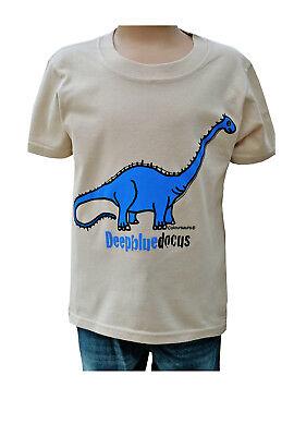 """shirt 3-4 upto 9-11y Nouveau kids coloursaurs /""""bleu/"""" diplodocus dinosaure t"""