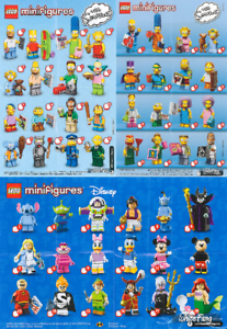 LEGO-MINIFIGURE-SERIE-SIMPSON-1-et-2-DISNEY-Minifigurine-o-choix-Choose-NEW