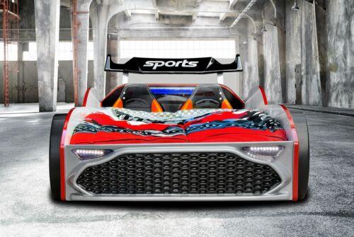 Jugendbett Autobett GT18 Turbo 4x4 in Rot Kinder Autobett