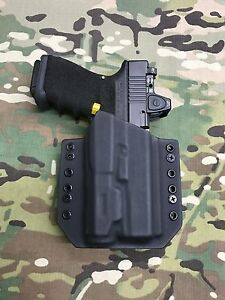 Image Is Loading Black Kydex Light Bearing Holster For Glock 19