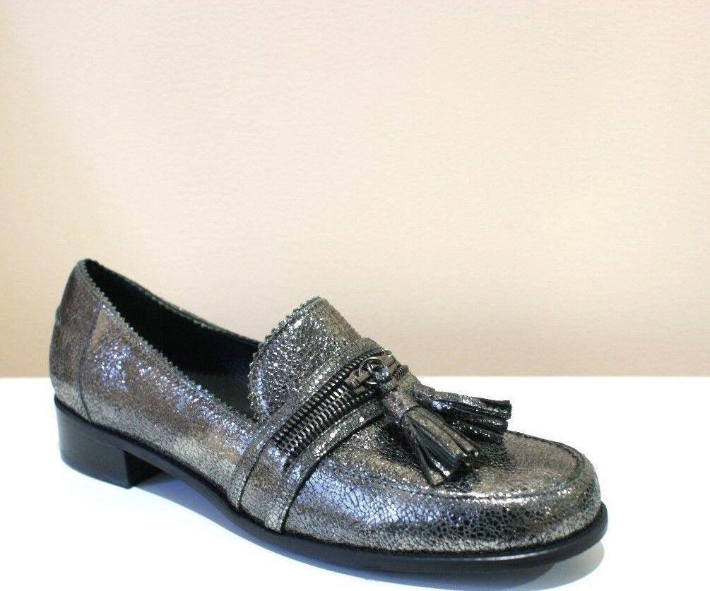 Stuart Weitzman lezip Pewter fragmento Nappa Mocasines Mocasines Mocasines Zapatos para mujer 6.5 Nuevo En Caja  n ° 1 en línea