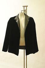Dusan Green Velvet Jacket Mandarin Collar Crop Coat Evening Italy Long Sleeve M