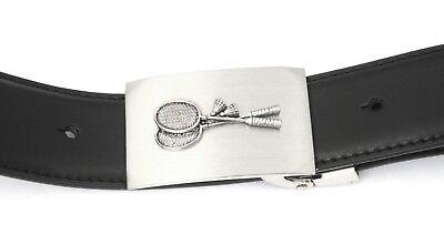 Badminton Buckle And Belt Set Black Leather Ideal Sports Gift 017 Grade Produkte Nach QualitäT