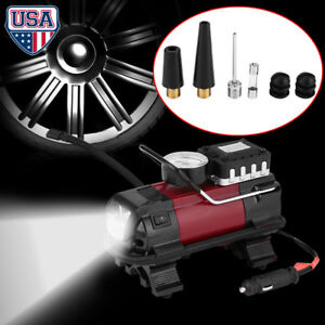 Heavy duty portable air compressor for car tire pump inflator auto image is loading heavy duty portable air compressor for car tire fandeluxe Images