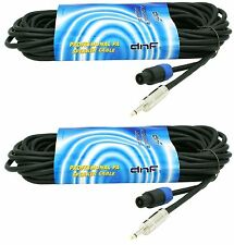 """(2 PACK) 25 FT SPEAKON TO 1/4"""" SPEAKER 16G DJ PA PRO AUDIO CABLES - SHIPS TODAY"""