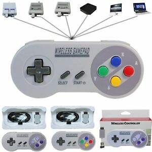 1-2pcs-Wireless-Controller-Gamepad-For-Super-Nintendo-SNES-Classic-Mini-Console