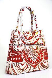 Indian-Handbag-Women-Shopping-Shoulder-Bag-Mandala-Print-Tote-Bag-Cotton-Hobo