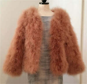 b7a19c94041 Sapphire Violet Real Ostrich Feather Fur coat Shrug Jacket Wedding ...