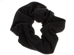 Girls-Ladies-Black-School-Jersey-Style-Hair-Scrunchie-Elastic-Bobble-Work-Gym