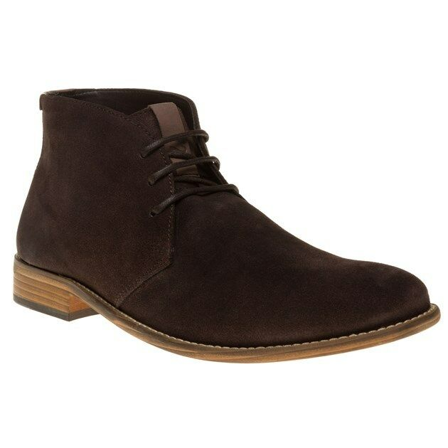 New Mens SOLE Brown Marlow Suede Boots Chukka Lace Up