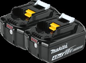 (2) New Genuine Makita Brand BL1840B-2 18V Batteries 4.0 AH LED 18 Volt LXT