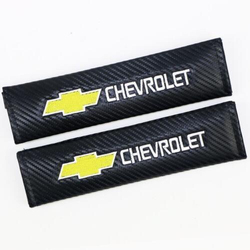 Chevrolet 2x Carbon Fiber Auto Cintura Spalla Pastiglie copertura cuscino adatto