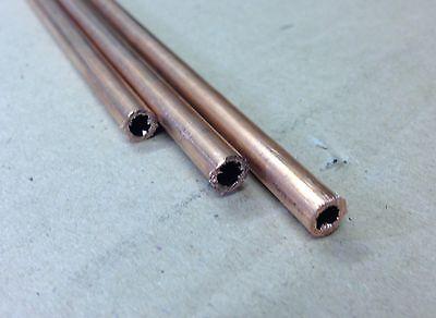 7.6x30.5cm Lang Echter Dampf Sparen Sie 50-70% 1/4 Kupferrohr 20g 0.9mm Wand