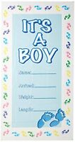 It's A Boy Door Cover Party Accessory (1 Count) (1/pkg), New, Free Shipping on sale