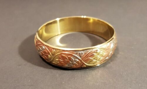 Damen Armband Gold Optik Messing Bangle Mode Schmuck Frauen Armreif NEU
