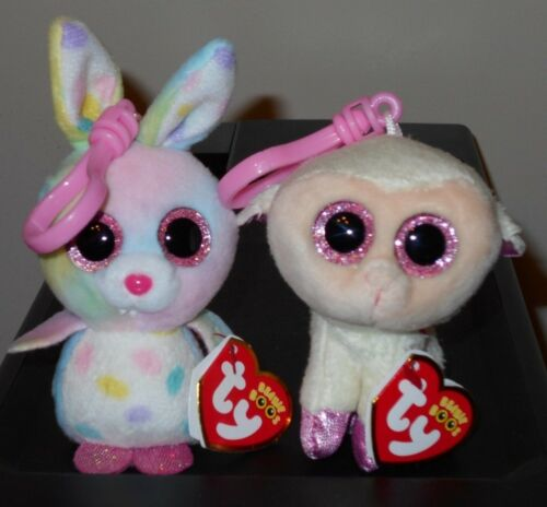 """3-4/"""" Ty 2017 Basket Beanies Boos Set ~ BUBBY /& TWINKLE Easter Key Clips NWT/'S"""