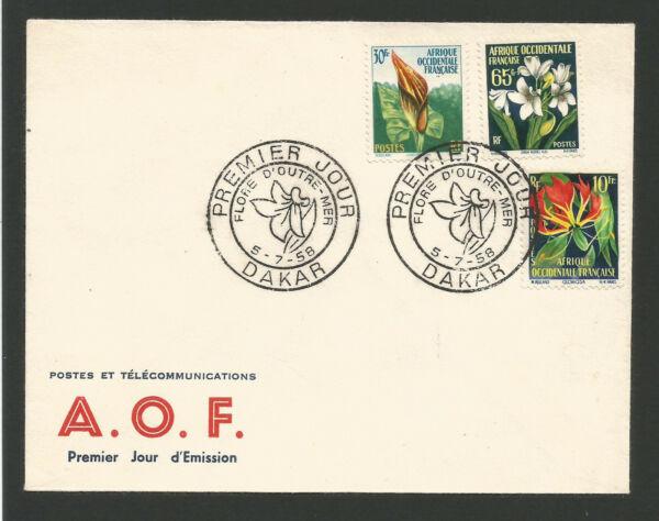 Fdc 1er Jour Flore D'outre Mer 1958 A.o.f. Oblit. Dakar Sénégal /l2091 Diversifié Dans L'Emballage