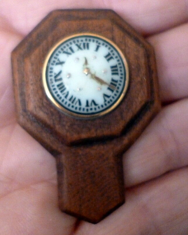 RARE Artist E. Bishop WALL CLOCK Dollhaus Miniature FROM MUSEUM